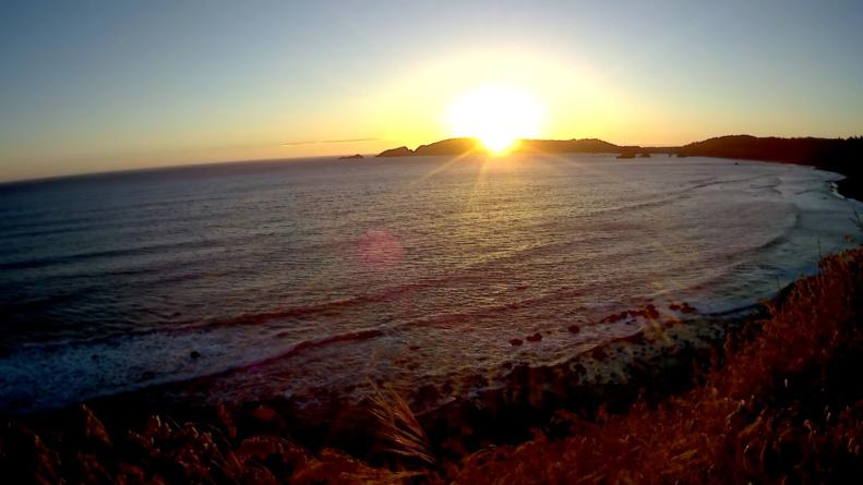 Sunset Over The Pacific Ocean At Port Orford Heads