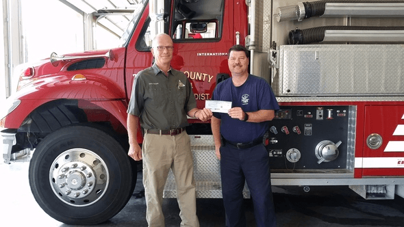 Missouri Conservation Delivers Grant Program Checks To Local Fire Departments